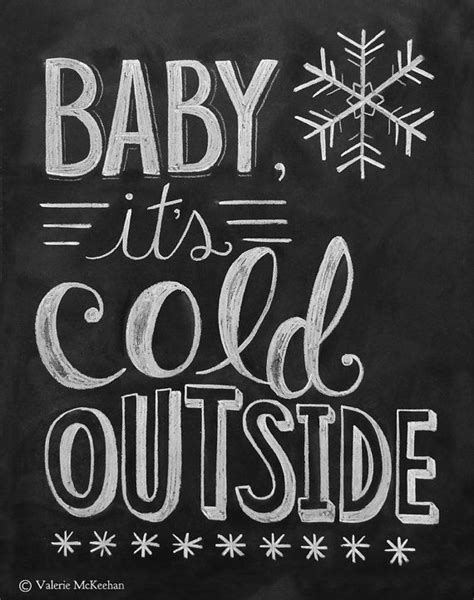 baby it s cold outside printable lyrics baby it s cold outside print chalkboard art by lilyandval