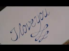 how to write in cursive calligraphy i you for