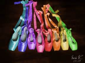 colored pointe shoes rainbow ballet by mariamc on deviantart