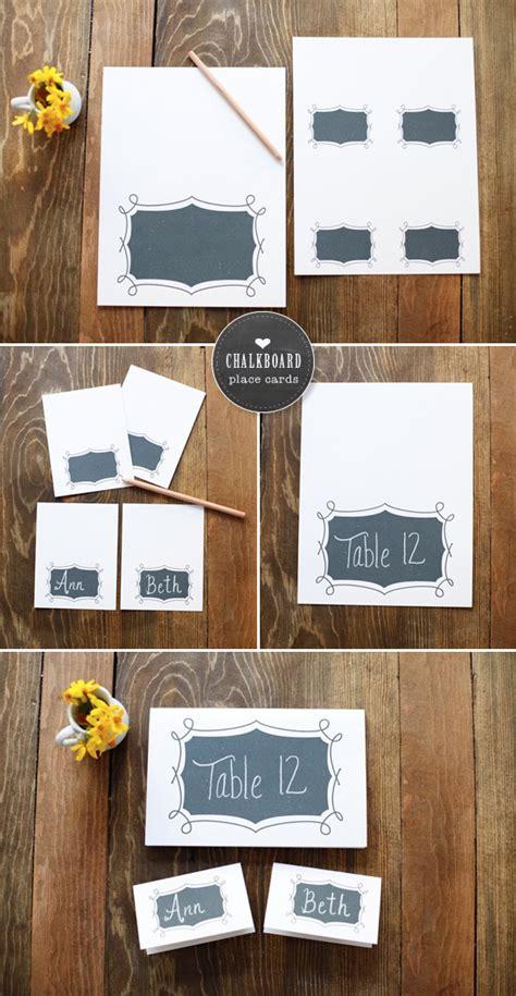 diy chalkboard print free printables chalkboard place cards