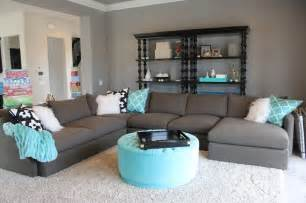 Gray Living Room With Pop Of Color Grey And White With Pops Of Color All
