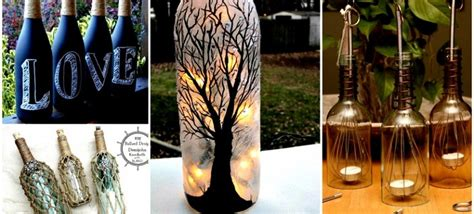 18 diy projects for old glass bottles