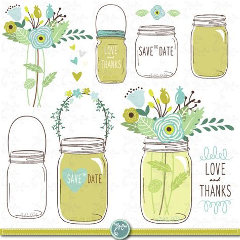 Jar Wedding Clipart by Draw Jars Clipart Quot Wedding Jars Quot Clip