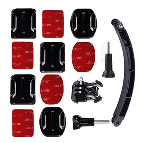 50 In 1 Aksesoris Go Pro Sjcam Sj4000 Sj5000 Plus Limited gopro accessories helmet extension arm kit go pro self flat curved adhesive mount for gopro