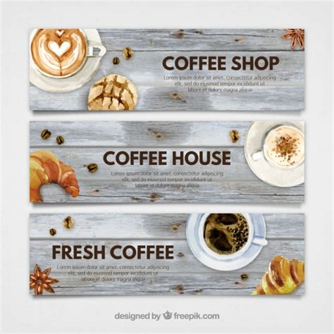 design banner coffee shop coffee banner vectors photos and psd files free download