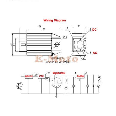 4 wire voltage regulator wiring diagram 4 pin regulator rectifier wiring diagram efcaviation