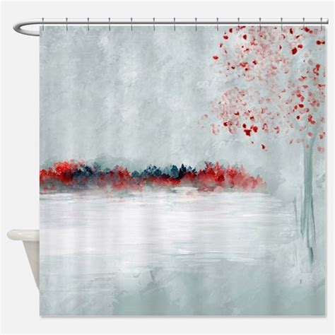 red and gray shower curtain red and gray shower curtains red and gray fabric shower