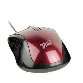 Mouse Cliptec cliptec viva pro wired 3 button optical mouse maroon