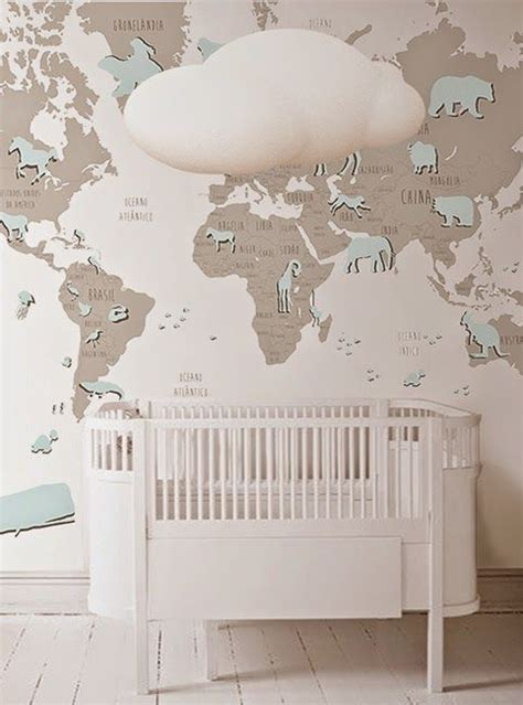 wallpaper for nursery blue world map wallpaper mural