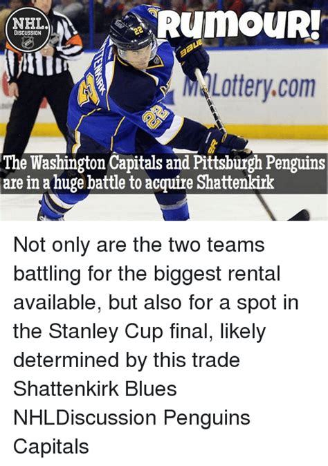 Pittsburgh Penguins Memes - rumour discussion m lottery com the washington capitals