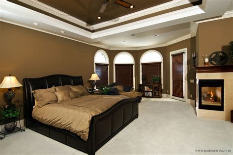 custom bedrooms luxurious master bedroom suite with 2 sided fireplace