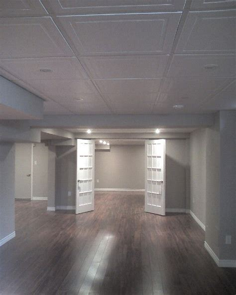 25 Best Basement Ceilings Ideas On Pinterest Finish Ceiling Tile Ideas For Basement
