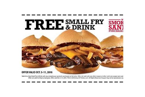 arby's smokehouse brisket sandwich coupon