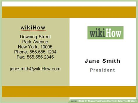 business cards awesome making business cards on word making