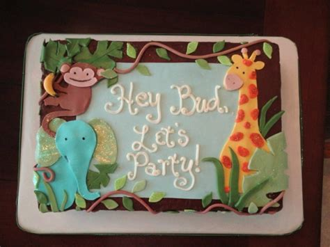 Jungle Theme Baby Shower Cakes by Jungle Theme Baby Shower Sheet Cake Cakecentral