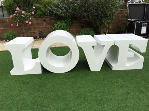 LOVE wedding table letters large Asian Nigerian shabby