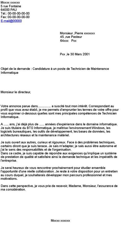 9+ lettre de motivation maintenance informatique | wieniebago