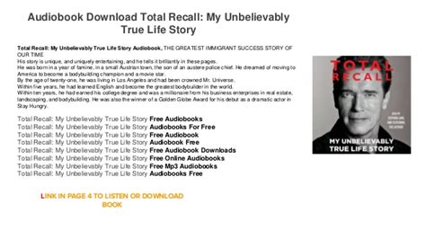 total recall my unbelievably true life story book arnold audiobook download online itunes total recall my