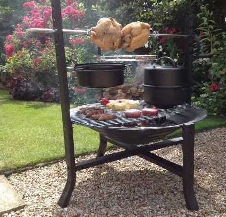 large fire pit with rotisserie and bbq grill savvysurf co uk