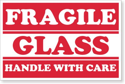 Printable Glass Labels | free fragile glass shipping labels