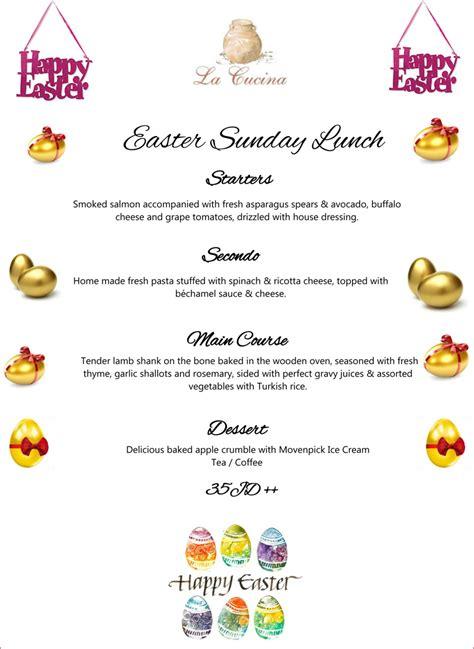 la cucina easter sunday lunch menu on ammansnob com