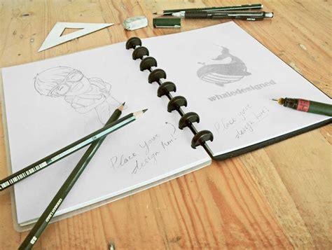 sketchbook binder sketch psd mockups