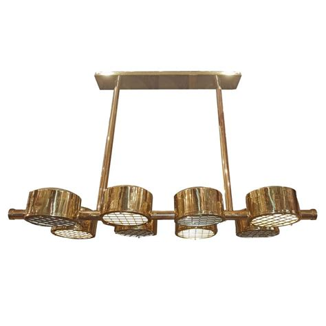 horizontal chandelier moderne horizontal chandelier with eight lights for sale