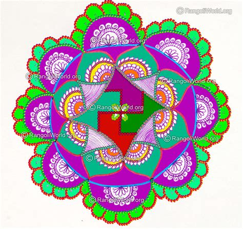 new year flower design new year rangoli designs 2016 gallery