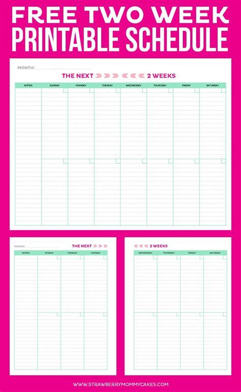 2 week calendar template get organized with the 2 week printable schedule