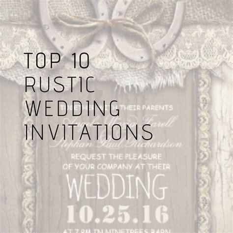 TOP 10 Popular Rustic Wedding Invitations   CHIC
