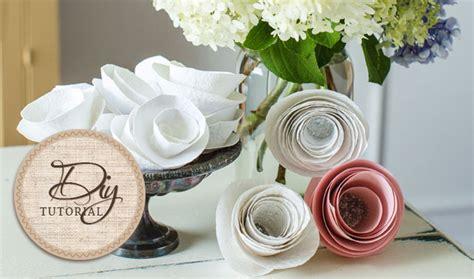 paper flower tutorial cardstock easy diy paper flowers tutorial