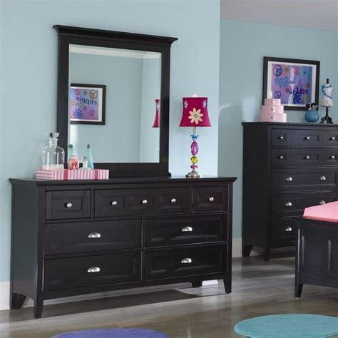 Black Dresser With Mirror Drawers by Magnussen Wood 7 Drawer Mirror Set Black
