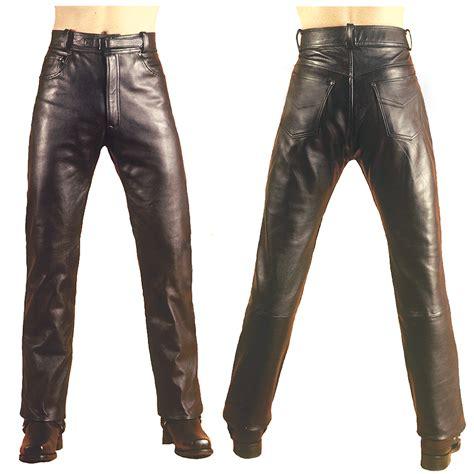 Men's Elite Plain Leather Jeans