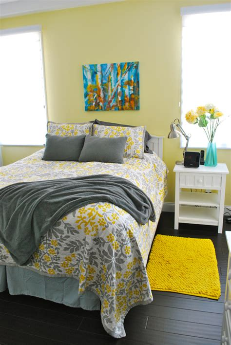 gray and yellow bedrooms meghan yang grey yellow bedroom tiny oranges oc mom