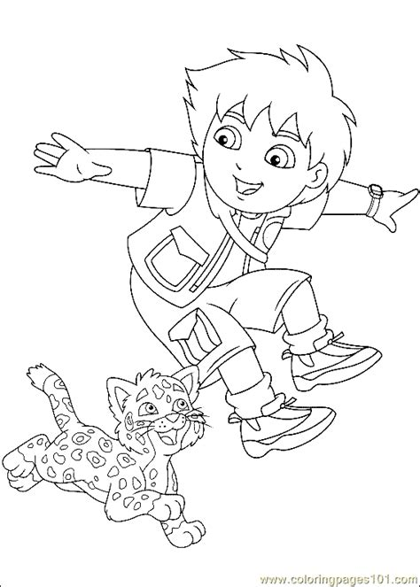 Coloring Pages Go Diego Go Coloring Page 04 Cartoons Gt Go Diego Coloring Pages Free