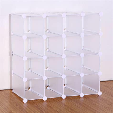 interlocking shoe storage vinsani interlocking 16 pairs cube shoe organizer rack