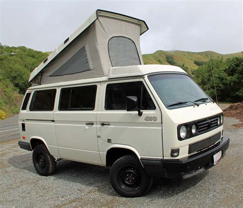volkswagen westfalia salvaged syncro 1990 vw vanagon westfalia cer auction