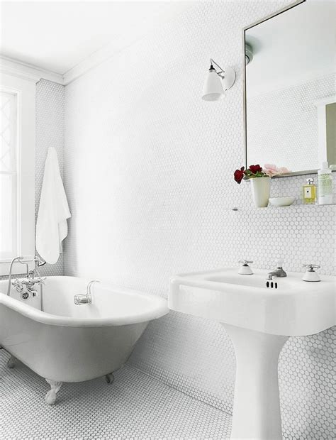 round bathroom tiles trend alert penny round tiles rounding bath and