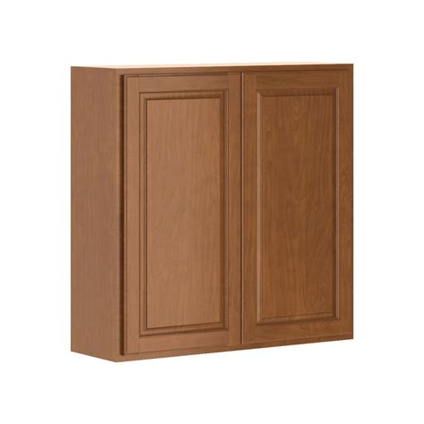 home depot cognac cabinets hton bay madison assembled 36x36x12 in wall cabinet in