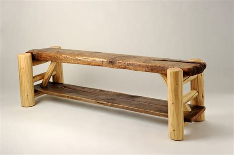 rustic indoor bench rustic furniture portfolio rustic indoor benches