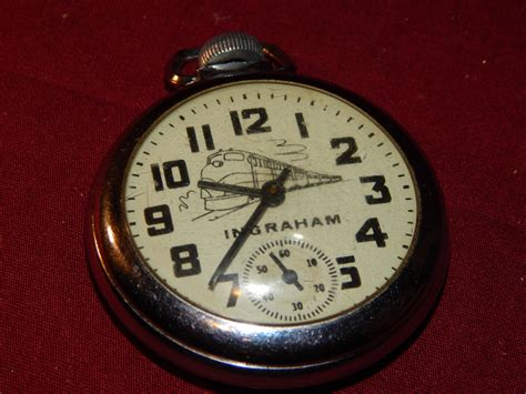 antique ingraham railroad pocket this by
