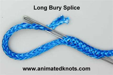 long bury splice how to splice a hollow braid rope