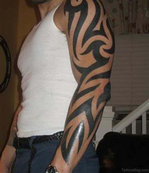 thick tribal arm tattoos 70 fabulous tribal tattoos on sleeve