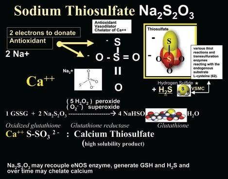Sodium Thiosulfate Detox Calcium by Potential Mechanisms Of Sodium Thiosulfate Allowing For