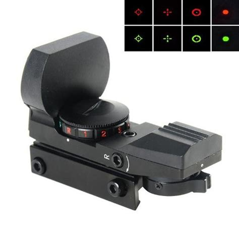Reflex Sight Green Dot Scope Tactical 11mm Picatinny Rail 4 reticle electro green dot sight tactical reflex 1x22x33 sight rifle scope with mount for