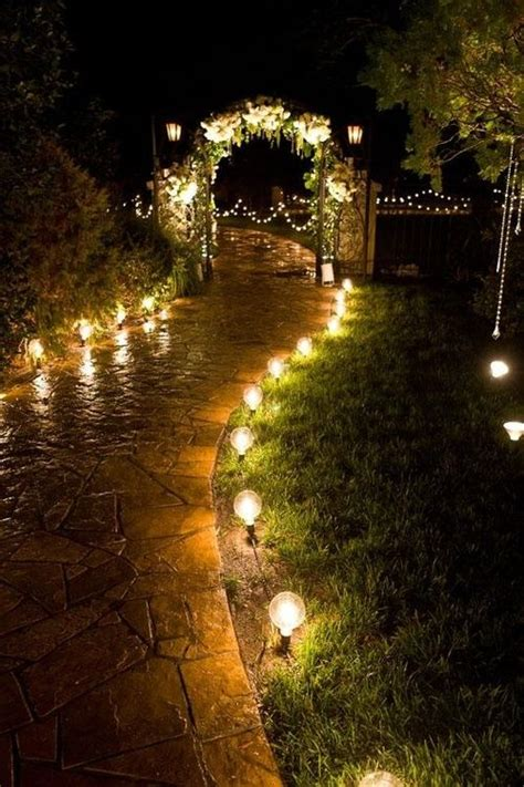 Pretty Outdoor Lights Things I Thursday Nighttime Garden Weddings The Pretty Pear Plus Size Bridal