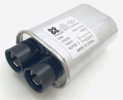 capacitor in a microwave 13qbp21085 microwave high voltage capacitor 2100 vac 85 mfd uf