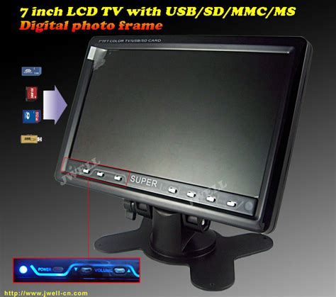 Tv 7 Inch by 7 Inch Tft Lcd Tv With Usb Sd Card Reader Digital Photo