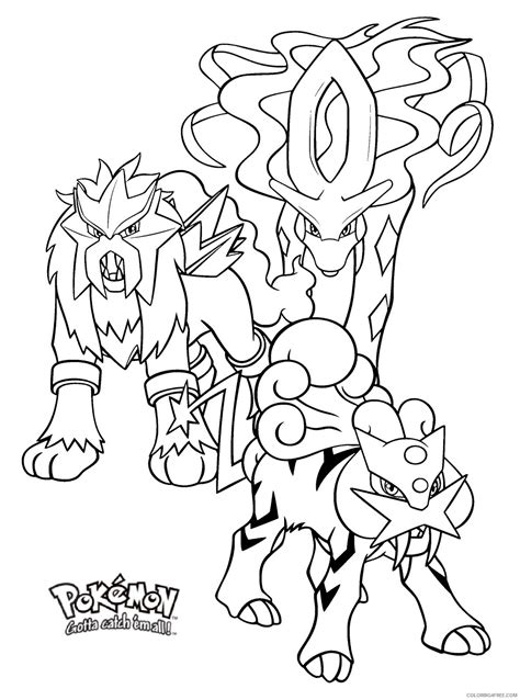 pokemon coloring pages suicune legendary pokemon coloring pages entei raikou suicune