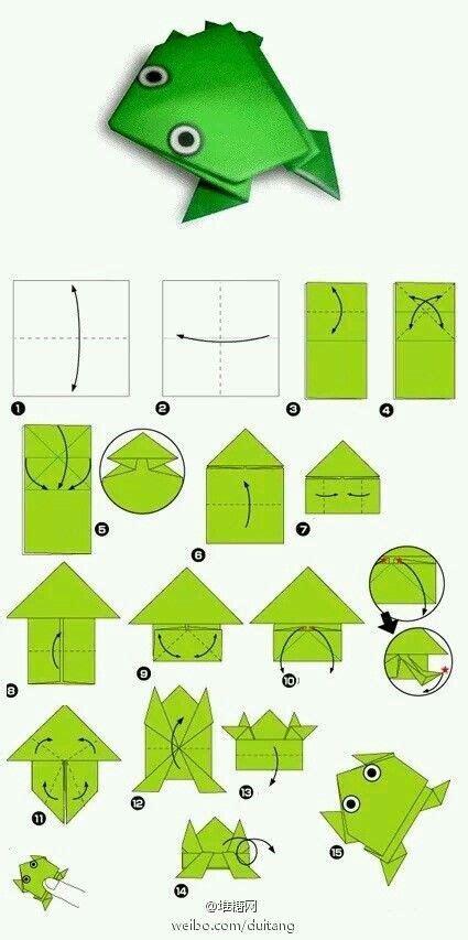 printable origami frog instructions pdf las 25 mejores ideas sobre rana de origami en pinterest